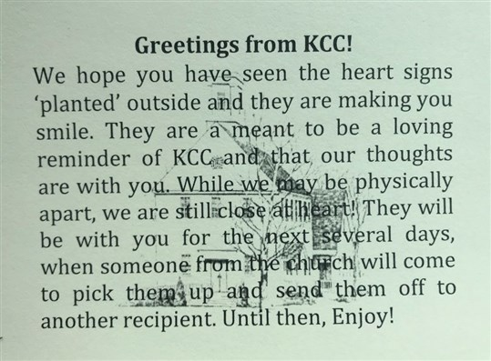 Greetings hearts from KCC